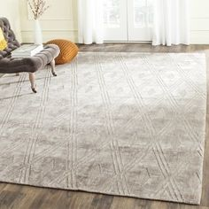Shop for Safavieh Handmade Mirage Modern Grey Viscose Rug (8' x 10'). Get free shipping at Overstock.com - Your Online Home Decor Outlet Store! Get 5% in rewards with Club O!