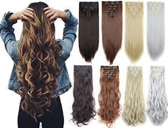 Days Delivery 16 Clips Inch Real Thick Curly Straight Full Head Clip in on Double Weft Hair Extensions 20 Colors Extensions Blondes, Red Hair Extensions, Synthetic Hair Extensions, Cara Delevingne, Short Wavy Haircuts, Hair Weft, Hair Weaves, Living At Home, Pretty Hairstyles