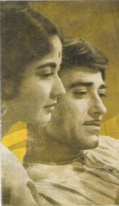 Meenaji and Raajkumar sahab ...a still from Dil ek mandir movie ❣️