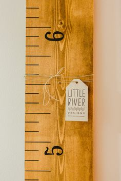 Love this DIY ruler growth chart by Little River Designs