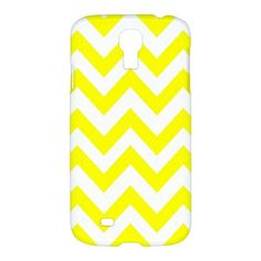 Cool Yellow Chevron Pattern Samsung Galaxy S4 S 4 Hardshell Case Cover