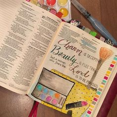 Proverbs 31:30  Lots to continually learn in this chapter ❤️ #biblejournaling #biblejournalingcommunity #illustratedfaith #proverbs31woman #charmisdeceptive #beautyisfleeting #fearthelord #faithjournaling #icolorinmybible
