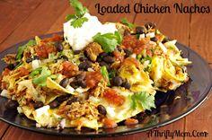 Loaded Chicken Nachos, Money Saving Recipe, Chicken Crock Pot Recipes, Kid Friendly Recipes,The Best Chicken Nachos