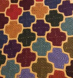 Ravelry: Moroccan Lattice Afghan pattern by Julie Yeager