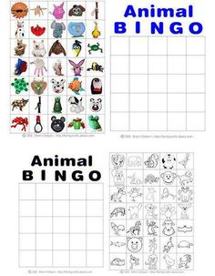 Printable Animal Bingo Cards