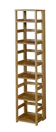 Flip Flop High Square Folding Bookcase in Cherry - Regency Bookcase Shelves, Bookcases, Solid Wood Shelves, Fabric Bins, Golden Oak, Shelf Supports, Square, Dorm Rooms, Regency