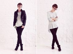 Romwe Jacket, Sammy Dress Shoes, Zara Sweater, H&M Ring, H&M Slims, Tom Ford Glasses