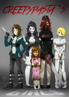 Creepypasta's Girls by T-Time07 on DeviantArt