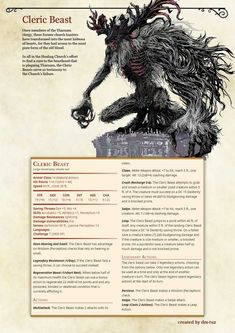 Bloodborne Monster Manual by DM Tuz - Imgur Dungeons And Dragons Classes, Dungeons And Dragons Characters, Dungeons And Dragons Homebrew, Dnd Characters, Mythical Creatures Art, Mythological Creatures, Fantasy Creatures, Dnd Stats, Dnd Stories