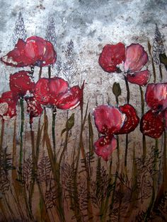 """Saatchi Online Artist Veda West; Painting, """"Poppies"""" #art Plant Painting, Poppies Painting, Poppies Art, Pictures Of Poppy Flowers, Art Gallery Uk, Relaxing Art, Pretty Art, Watercolor And Ink, Art Pictures"""