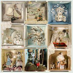 NATASCHA BOEL est une illustratrice néerlandaise qui utilise une technique mixte de dessin, peinture et collage. Des chromos et des photographies anciennes.