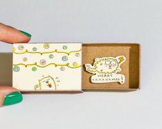 Drôle carte de Noël / Christmas Ornaments Cat Card / par shop3xu