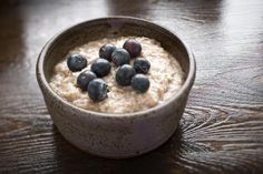 Low-Carb Blueberry Almond Breakfast Pudding///try making in double-boiler