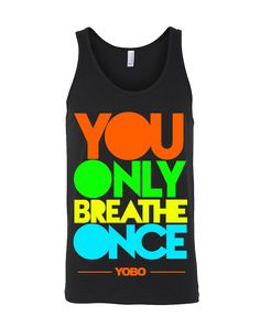 You Only Breathe Once Tank-Top - True Royal Triblend | SwimWithIssues