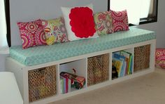 Shelf with cushion equals one awesome bench