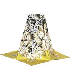 77.99$  Buy now - http://visha.justgood.pw/vig/item.php?t=oz1z85q26238 - May New Charming Print 100% Silk Twill Scarf , Women's Square Silk Scarves Shawl 77.99$