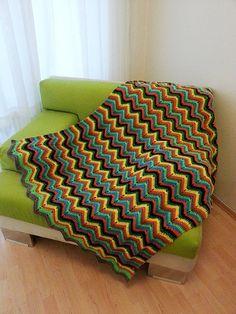 46 x 54 Geometric colorful  chevron zig-zag by NesrinArt on Etsy