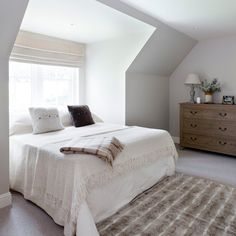 Cosy white guest bedroom | traditional decorating ideas | Ideal Home | Housetohome.co.uk