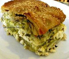 Pita Recipes, Cookbook Recipes, Greek Recipes, Cooking Recipes, Quiches, The Kitchen Food Network, Mumbai Street Food, Greek Cooking, Greek Dishes