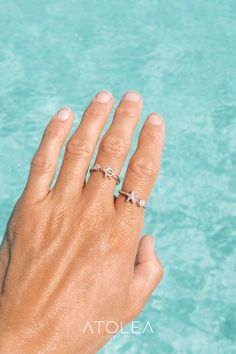 Show your love for the marine animals with these minimalist, dainty and beautiful stainless steel rings. Perfect gift for a friend or loved one with a love of the ocean. A great addition to any ocean lovers jewelry collection. Save the ocean with each of your purchase. Starfish Ring, Engagement Rings, Sea Shells, Beach, Jewelry Rings, Summer Outfits, Mermaid, Ocean, Boho