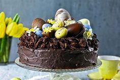 Пасхальный шоколадный торт «Гнездо»