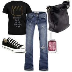 I don't care how old I get, I will still rock a pair of cons, jeans and a tee (topped with a zip up hoodie)