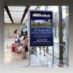 Baldwin Construction Airport Ad by Galvanek & Wahl Advertising Agency