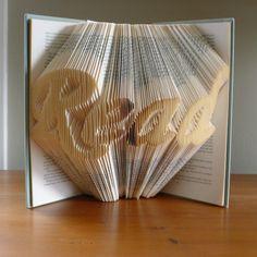 Folded book art - Fubiz
