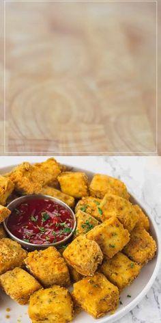 Easy Healthy Recipes, Raw Food Recipes, Indian Food Recipes, Vegetarian Recipes, Cooking Recipes, Amish Recipes, Dutch Recipes, Tofu Nuggets Recipe, Breaded Tofu