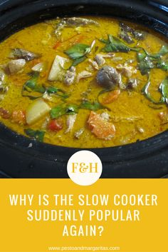 Slow cooker recipes have taken off in the last year or two and are now as popular as anything.  But what's the key to getting the most from your slow cooker? http://pestoandmargaritas.com/slow-cooker-suddenly-popular/