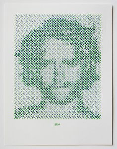 Stitched Portrait Project by Evelin Kasikov textiles portraits embroidery