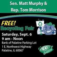 Join Sen. Murphy for his Sept. 6 Recycle Day!