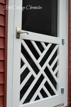 """DIY """"Chippendale"""" Wood Screen Door"""