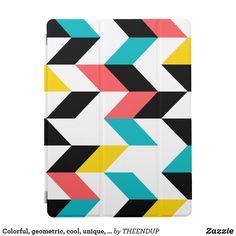 Colorful, geometric, cool, unique, trendy graphic iPad pro cover