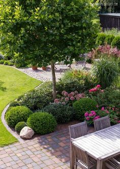 rabatt garten Great front yard landscaping ideas can transform your homes curb appeal. Your front yard design can greatly impact the way your home looks from the outside. Back Gardens, Outdoor Gardens, Japanese Garden Lighting, Garden Shrubs, Small Garden Trees, Artificial Grass Ideas Small Gardens, Tree Garden, Garden Bar, Easy Garden