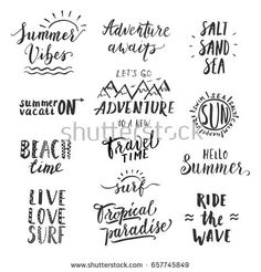 Travel Lifestyle Motivational Phrases Set Hand Stock Vector (Royalty Free) 657745849