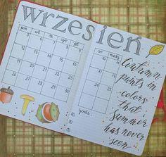 I'm late with #september #monthly in my Bullet Journal🙊😄 Calendar,  goals and autumn favorites🍁🍂🍄🌰 #bulletjournal #bujo #bujojunkies #planner #plannercommunity #showmeyourplanner #planwithmechallenge #wrzesień #calligraphy #moderncalligraphy #lettering #typography #garamond #mushroom #calendar #goals #jesień #fall #herbst #bulletjournalpolska