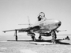 Republic RF-84F Thunderflash  recon-version of Thunderstreak. 715 of these planes were produced in 1955-57 and served many years with various Air Forces of the world, even into the 1980s. RF-84F-1-RE s/n 51-1830.