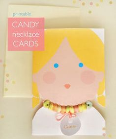 Free Printable Candy Necklace Cards for Valentine's Day