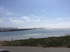 Morning fog rolling out to sea. Santa Cruz, CA. 2016.