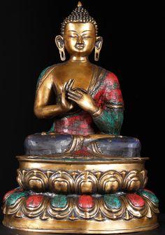 """View the Dharmachakra Mudra Buddha 24"""" at Hindu Gods"""