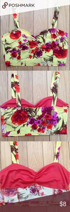 Floral Bralette Soft floral bralette, some stretch, but doesn't give much support. If needed you could wear a bra under it. Never worn great condition. 🌼 Tops Crop Tops