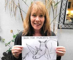 Rhino Doodle by Scottish actress Phyllis Logan (Downton Abbey)