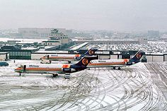 The original 3 DC-9-10s of Midway Airlines