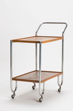 Bauhaus Serving Cart Steel Tube 30s