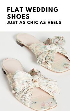 Think flat wedding shoes are not as elegant as heels? We've rounded up our favorite ballet pumps, flat peep-toes and bridal sandals. Lace Flats, Peep Toe Flats, Pointed Flats, Bow Flats, Ballet Wedding, Wedding Flats, Bridal Sandals, Bridal Shoes, Creative Wedding Inspiration