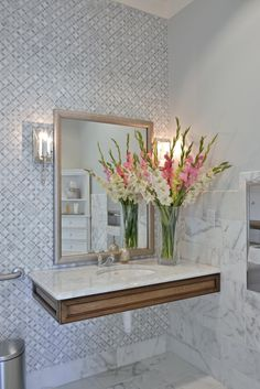 A Welcoming Dental Office – Heather Scott Home & Design – Office organization at work Ada Bathroom, Handicap Bathroom, Office Bathroom, Bathrooms, Bathroom Marble, Home Design, Interior Design Studio, Modern Interior Design, Design Design