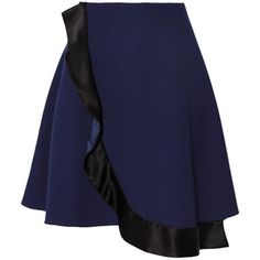 Prabal Gurung Wrap-effect crepe mini skirt
