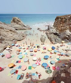 """the epitome of summertime. """"Praia Piquinia"""" in Portugal, shot byChristianChaize."""