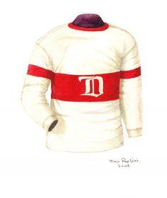 Vintage Detroit Red Wings 1926-1927 jersey artwork by Scott Silcox  detroit   redwings d0f35d911
